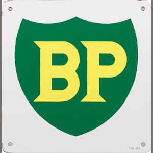 A BP gasoline pump plate,