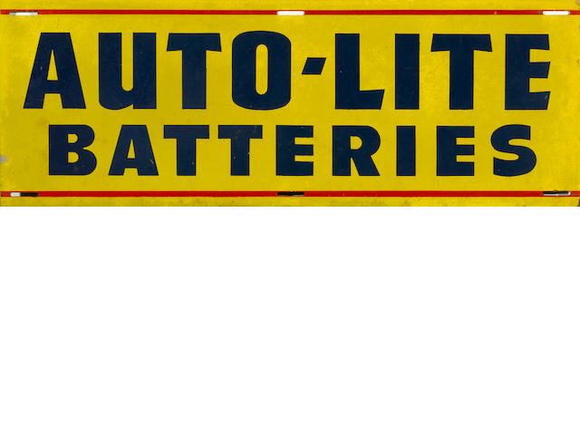 An Auto-Lite Batteries sign, c. 1950s,