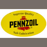 A Pennzoil motor oil sign,