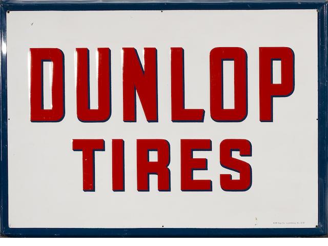 A vintage Dunlop Tires sign, c.1952,