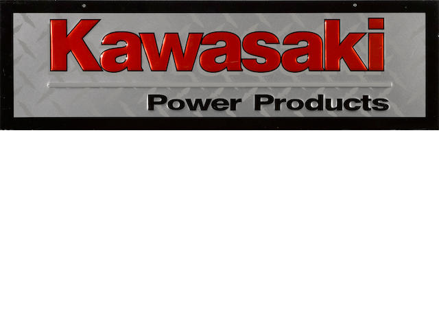 A Kawasaki Power Products sign,