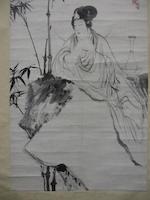Tang Yun (1910-1993), Kong Xiaoyu (1899-1984) and Zhou Huaimin (1907-1996)  Guanyin