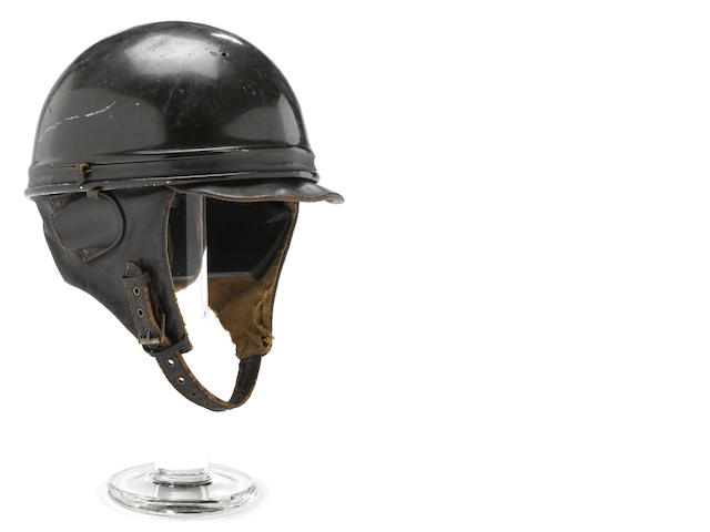 A 30s era Geno of Paris lightwhight crash helmet,