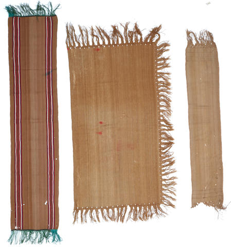 Three Bolivian antique textiles