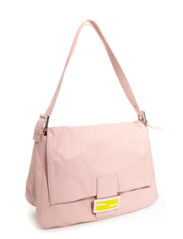 A Fendi pink leather handbag