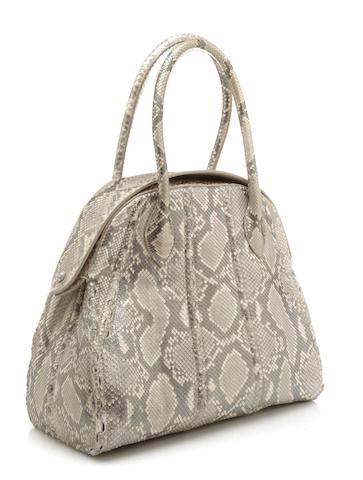 An Alaïa snakeskin handbag