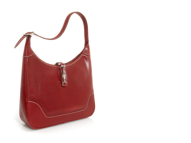 An Hermès red leather Trim handbag