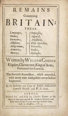 CAMDEN, WILLIAM, 1551-1623.