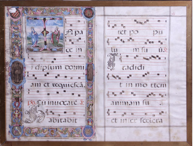 [ILLUMINATED MANUSCRIPT.]