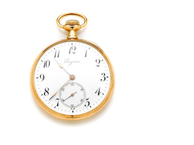 A 14k gold pocketwatch, Longines
