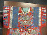 An assembled group of kesi-woven silk textiles Late Qing/Republic period