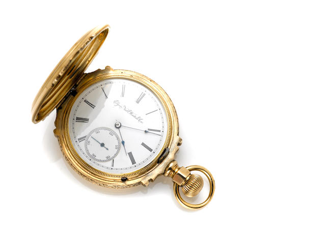 An Elgin 14k gold hunting cased pocket watch