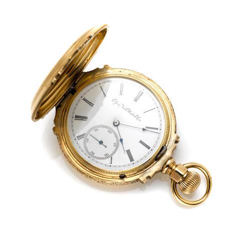 An Elgin 14k gold hunting cased pocket watch