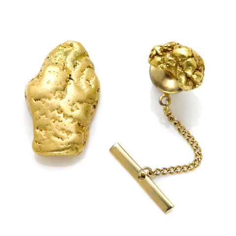 A collection of natural gold nugget specimen jewelry
