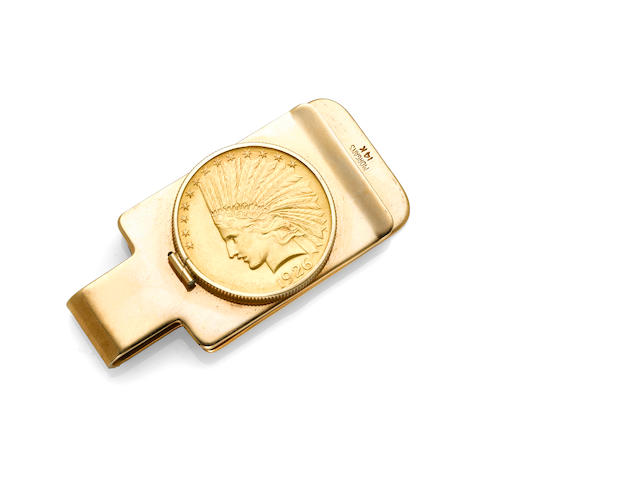 An American gold coin money clip