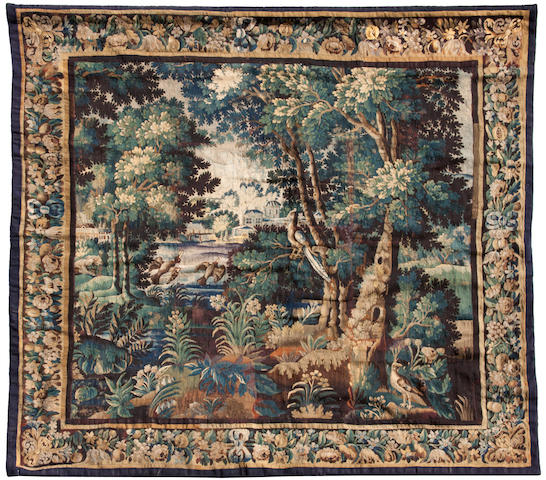 A Flemish Baroque parkland tapestry  early 18th century