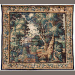 A Flemish Baroque parkland tapestry <BR />early 18th century
