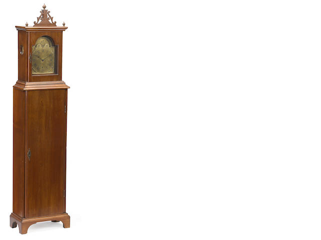 A Chippendale mahogany dwarf clock <BR />Probably Connecticut <BR />18th century