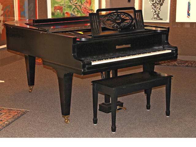 A Grotrian Steinweg ebonized grand piano circa 1928<BR />serial no. 45220