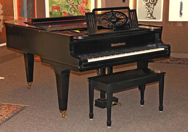 A Grotrian Steinweg ebonized grand piano circa 1928<BR />serial no. 45220