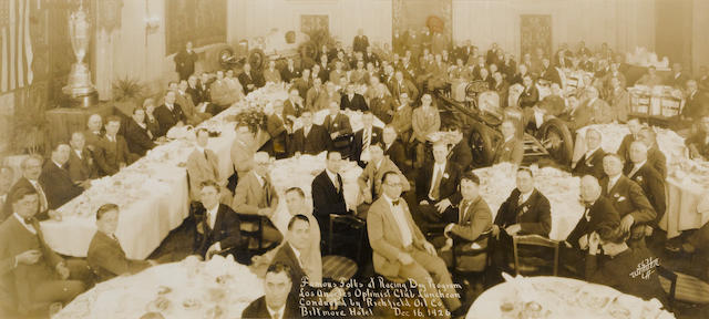 Famous folks at the racing day program photograph, 1926,