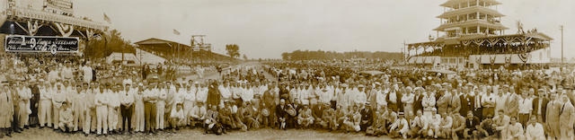 A 1926 Indianapolis 500 panoramic photograph,