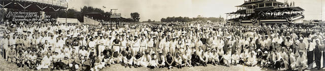 A 1937 Indianapolis 500 panoramic photograph,