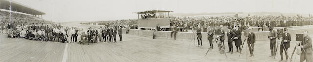 An Boardtrack race panoramic photograph,