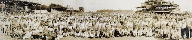 A 1937 Indianapolis 500 panoramic photograph,