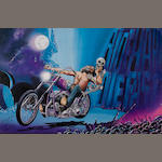 A David Mann print 'Ride Hard, Die Fast',