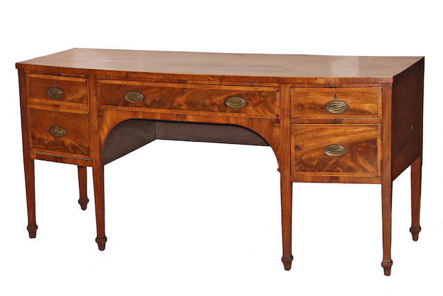 A George III inlaid mahogany sideboard third quarter 18th century