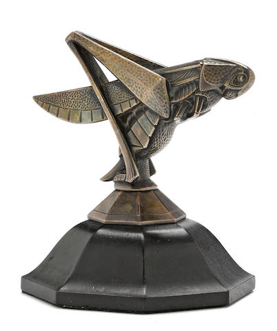 A 'Cicada', mascot by Guiraud, French, c. 1922,