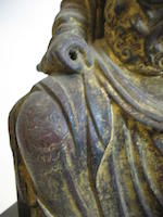 Two cast bronze Daoist divinities<BR />Late Ming dynasty