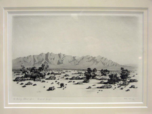 A George Elbert Burr etching