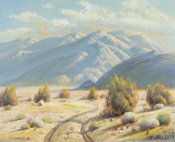 Paul A. Grimm (American, 1891-1974) Desert road