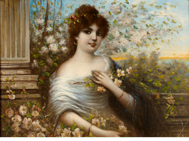 C.A. Lenoir An elegant beauty  29 x 39 1/2in