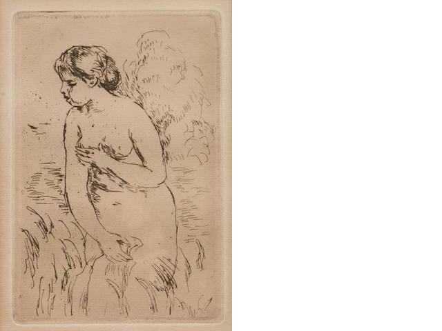 Pierre-Auguste Renoir (French, 1841-1919); Baigneuse debout, a mi-jambes;