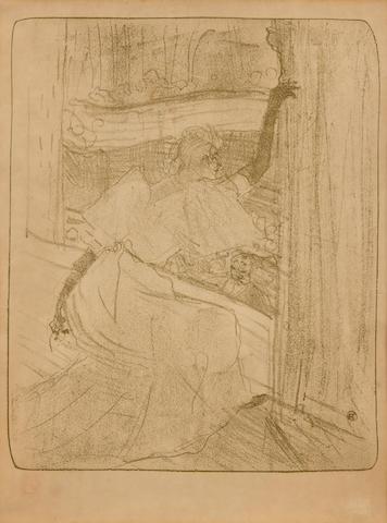 Henri de Toulouse-Lautrec (French, 1864-1901); Yvette Guilbert-Saluant le Public;