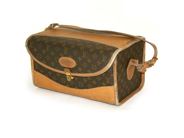An American Louis Vuitton monogram train/vanity case manufactured by The French Company