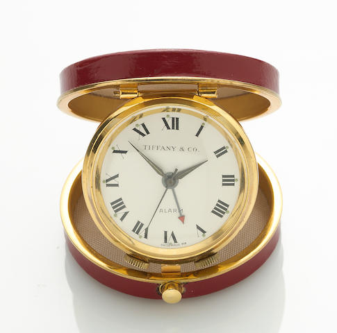 A travel alarm clock, Tiffany & Co.