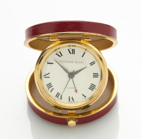 A travel alarm clock, Tiffany & Co.