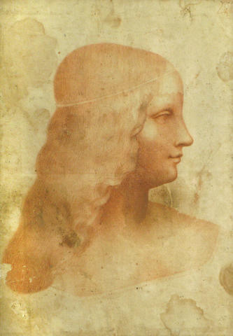 Italian School, * Crispian * Portrait of young woman, red chalk
