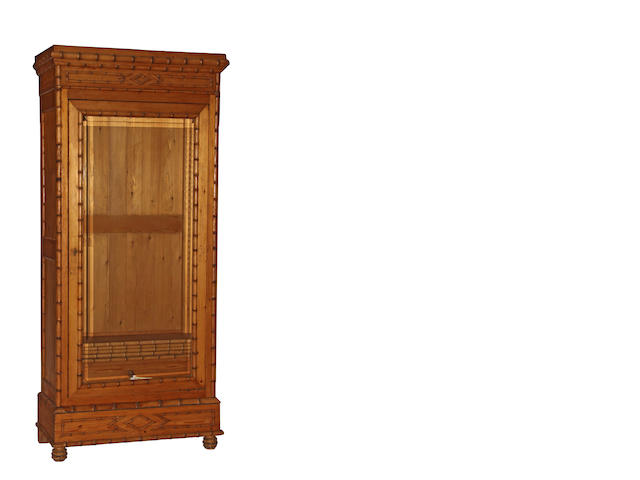 A French Aesthetic faux bamboo armoire second half 19th century