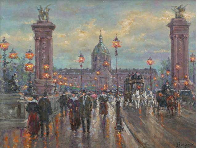 Jean Boyer (French, born 1915) Le Pont des Arts 18 1/4 x 21 3/4in