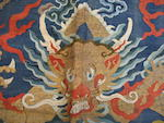 A kesi-woven blue silk dragon robe 19th century