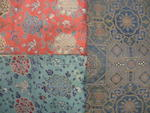 A group of three large pieced silk brocade panels 18th/19th century