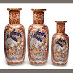 Three Vista Allegre porcelain vases