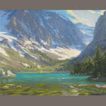 Charles Muench, Parker Lake, o/bd, 10 x 12in