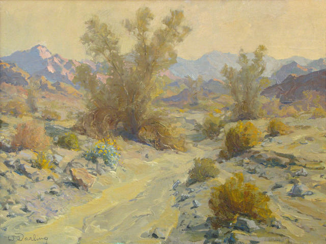 William S. Darling (American, 1882-1963) La Quinta Canyon, sundown 16 x 22in