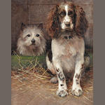 Samuel Fulton (British, 1855-1941) Spaniel and Cairn 20 1/4 x 16in. (51.5 x 40.5cm.)